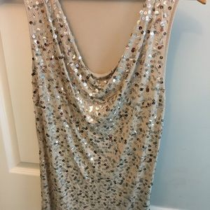 Apt 9 Sequined Tank Top - Size M